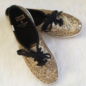 EUC Kate Spade x Ked's Champion Glitter Shoes